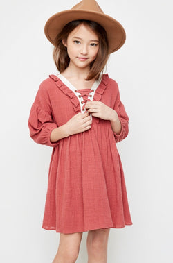 Savannah Ruffle Peasant Dress