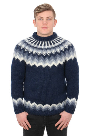Fennrir - Icelandic Sweater - Navy Blue, Icelandic Sweater Pullover - icelandicstore.is