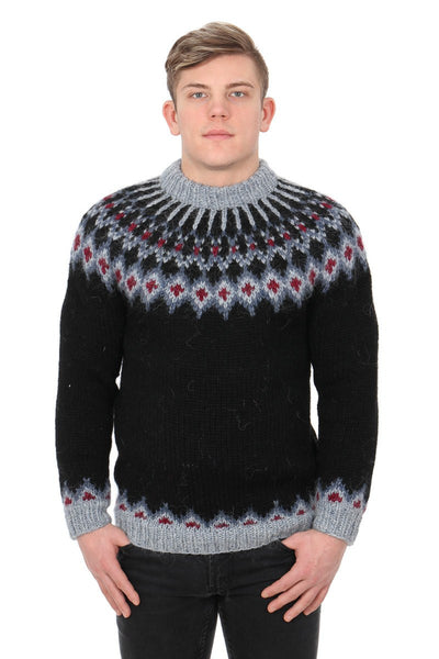 Svartálfur - Icelandic Sweater - Black, Icelandic Sweater Pullover - icelandicstore.is