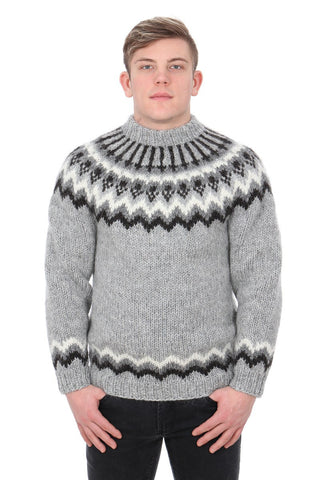 Baldur - Icelandic Sweater - Grey, Icelandic Sweater Pullover - icelandicstore.is