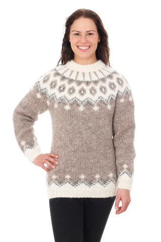 Gerður - Icelandic Sweater - Light Beige, Icelandic Sweater Pullover - icelandicstore.is