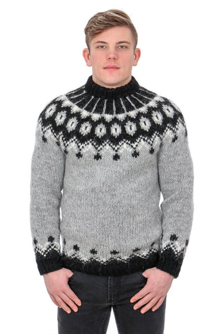 Hænir - Icelandic Sweater - Ash Heather, Icelandic Sweater Pullover - icelandicstore.is
