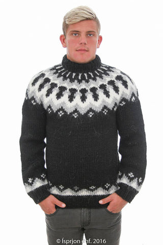 Forseti - Icelandic Sweater - Black, Icelandic Sweater Pullover - icelandicstore.is