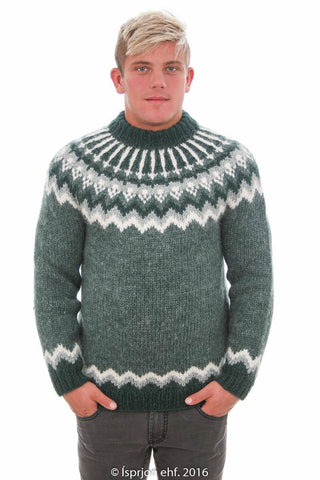 Bragi - Icelandic Sweater - Forrest Heather, Icelandic Sweater Pullover - icelandicstore.is