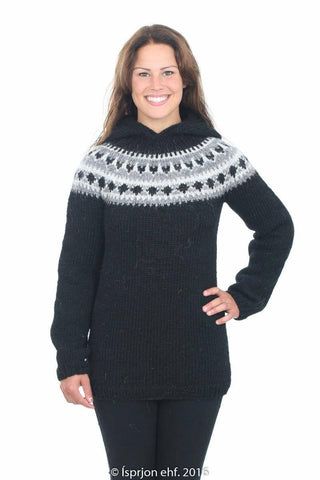 Iðunn - Icelandic Sweater - Black, Icelandic Sweater Pullover - icelandicstore.is
