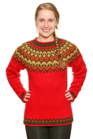 Riddari - Icelandic Sweater - Red
