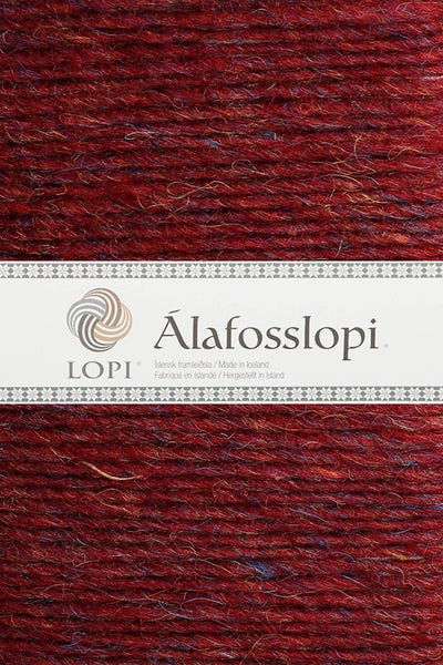 Alafoss Lopi - 9962 Ruby Red Heather, Álafoss Wool Yarn - icelandicstore.is