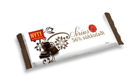 Noi Sirius Chocolate - 56% Cocoa, Icelandic Candy - icelandicstore.is