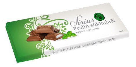 Noi Sirius Chocolate - Pralin Mint, Icelandic Candy - icelandicstore.is