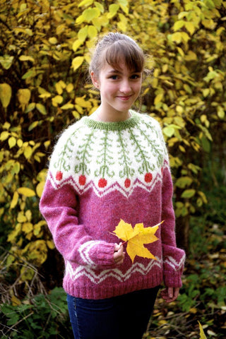 Fern Flower - Free Knitting pattern, Knitting Pattern - icelandicstore.is