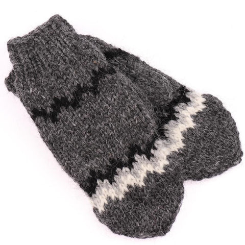 Handknit Wool Mittens - Grey, Wool Mittens - icelandicstore.is