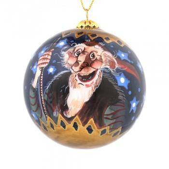 Handpainted Christmas Ball Ornament, Sheep Worrier & Gully Gawk, Yule Lad Ornament - icelandicstore.is