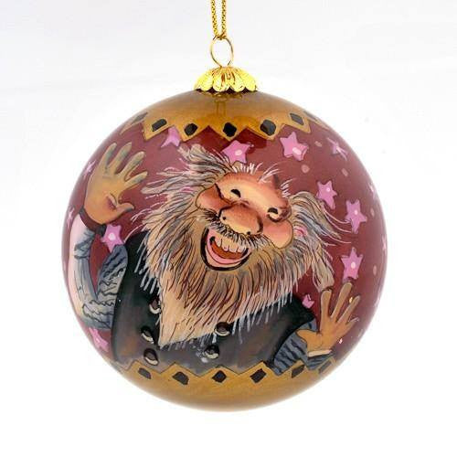 Handpainted Christmas Ball Ornament, Shorty & Spoon Licker, Yule Lad Ornament - icelandicstore.is