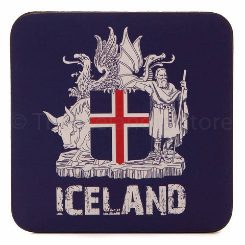 Icelandic Coaster - Icelandic Coat of Arms, Coaster - icelandicstore.is