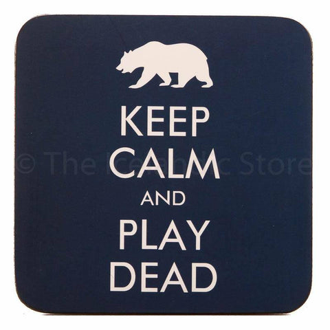 Icelandic Coaster - Keep calm and play dead, Coaster - icelandicstore.is