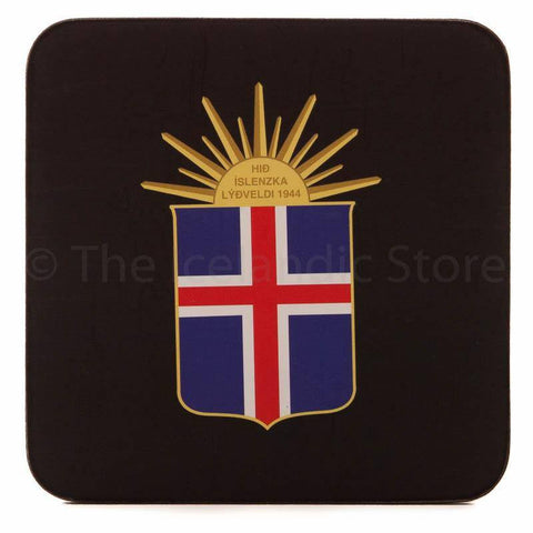 Icelandic Coaster - The Icelandic emblem, Coaster - icelandicstore.is