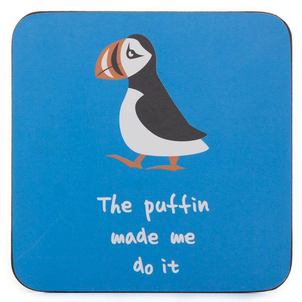 Icelandic Coaster - The Puffin made me do it, Coaster - icelandicstore.is