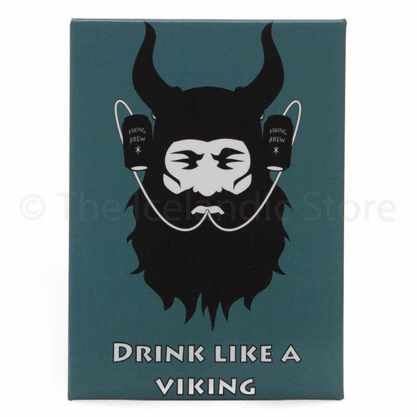 Icelandic Magnet - Drink like a viking,  - icelandicstore.is