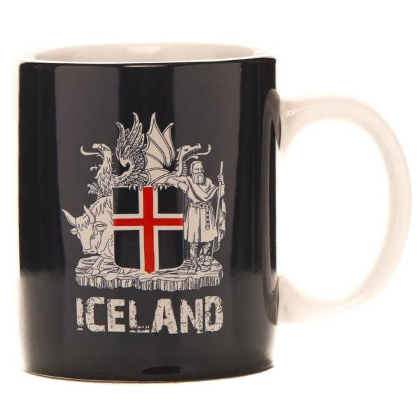 Icelandic Mug - Icelandic Coat of Arms, Souvenir Mug - icelandicstore.is