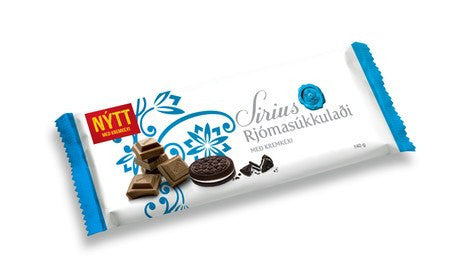 Noi Sirius Chocolate - Milk Chocolate with Oreo, Icelandic Candy - icelandicstore.is