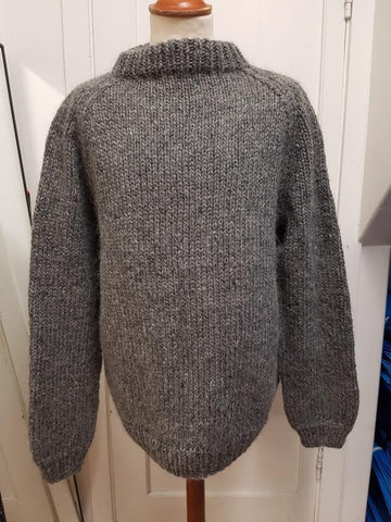 BULKY GREY - Custom made Icelandic Sweater