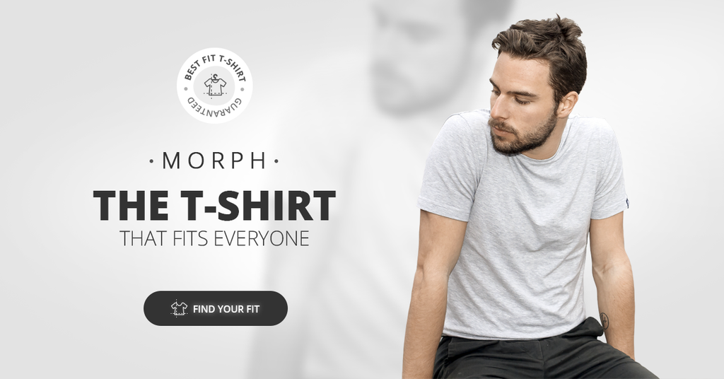 How to choose your size of men's t-shirt according to MORPH the perfect t-shirt for men