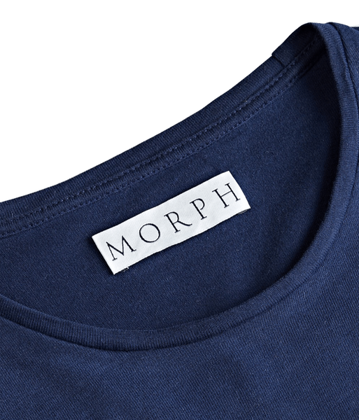 The Morph T-shirt slim collar (8milimeters) and label with Morph written on it in the back