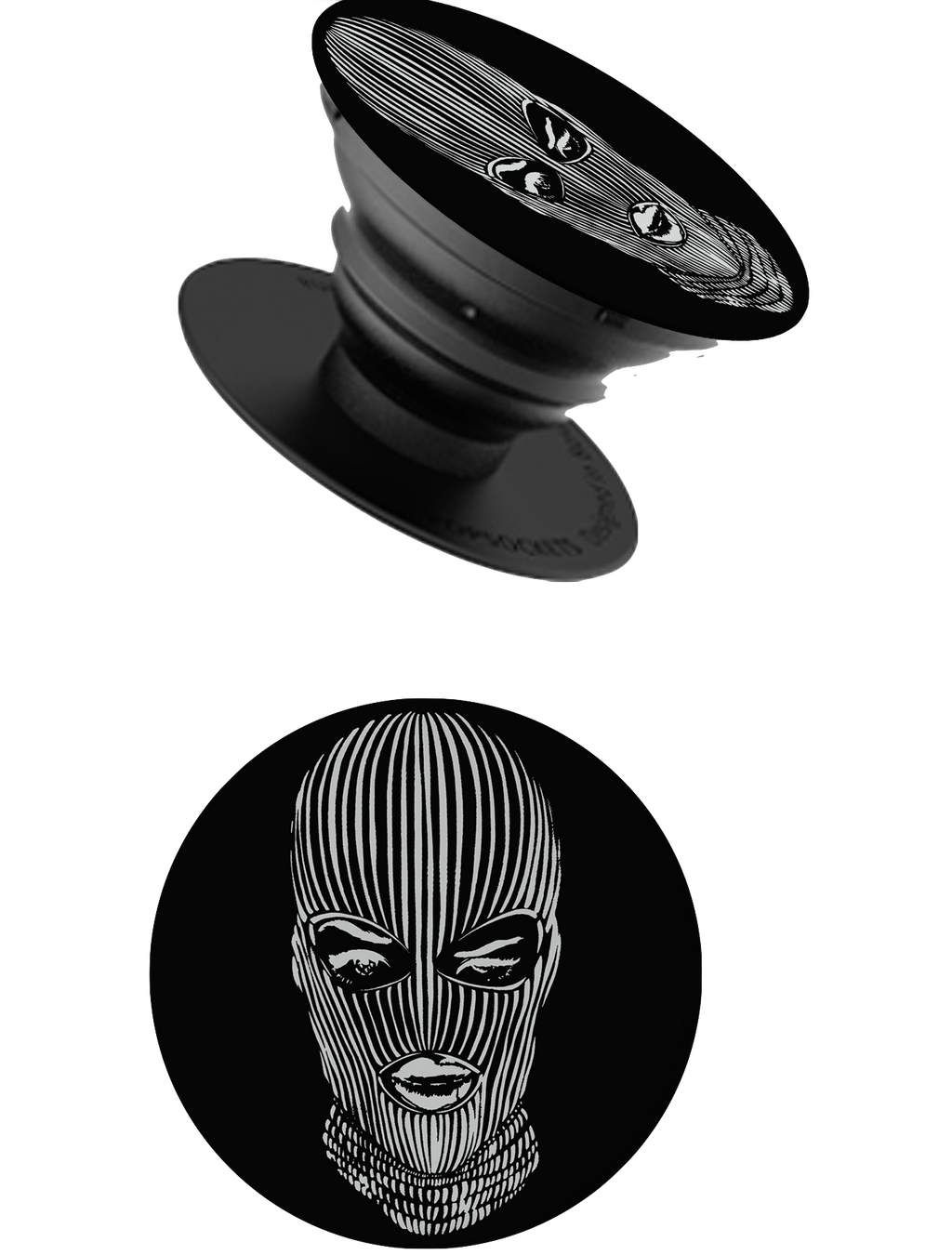 Ski Mask Pop Socket in Black