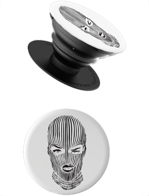 Ski Mask PopSocket in White
