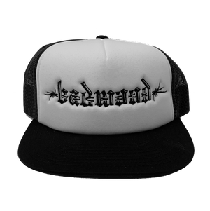 """BARBED-WIRE"" Foam Trucker Hat - WHITE"