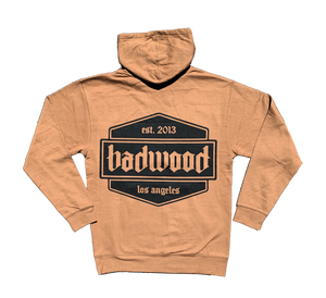 """SHIELD"" Unisex Mid-Weight Hoodie in BOURBON"