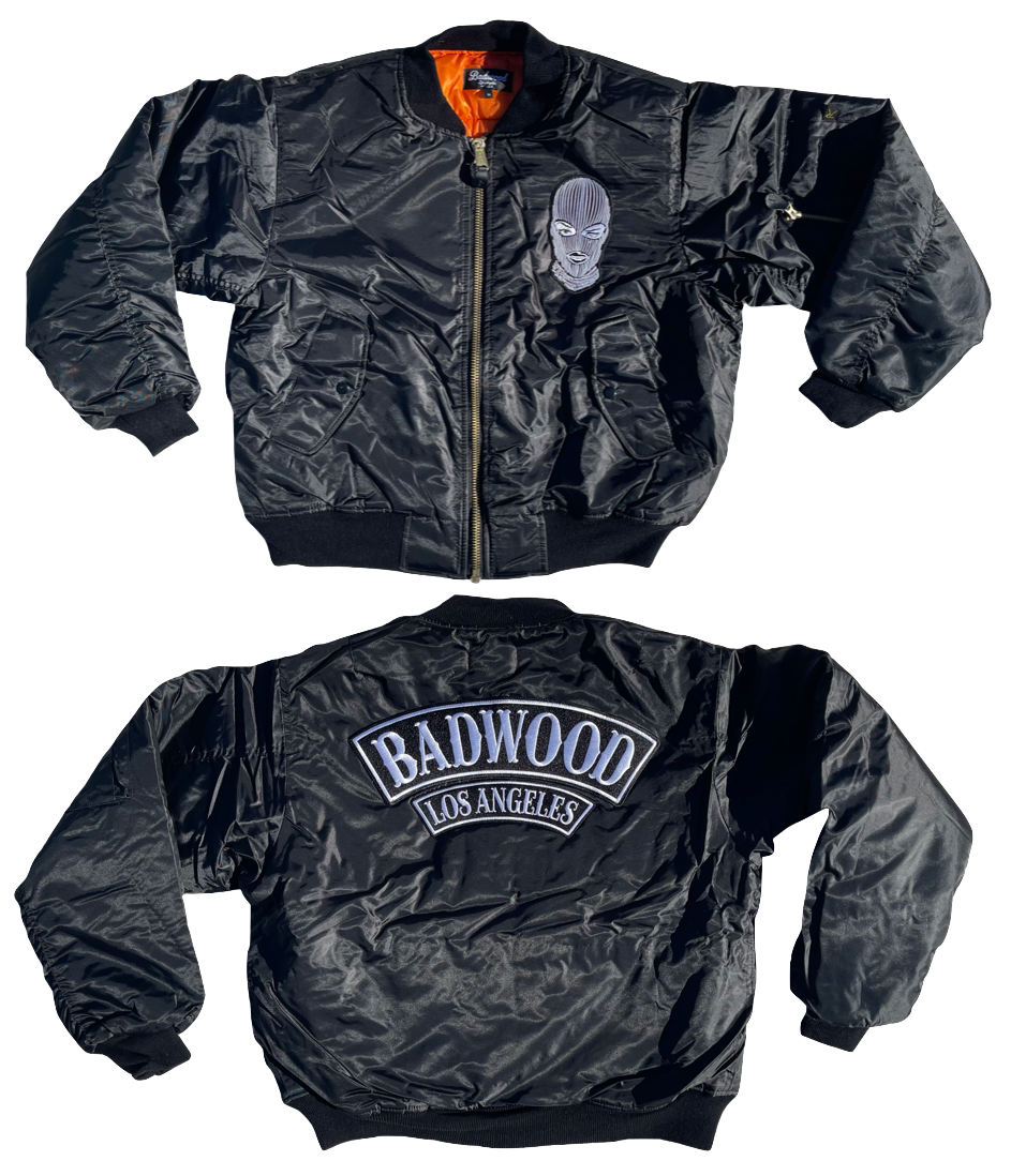 Badwood Bomber Jacket in BLACK