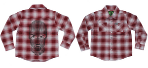 """DIXXON x BADWOOD"" Youth Flannel - *Limited Edition* w/ Ski Mask Print"