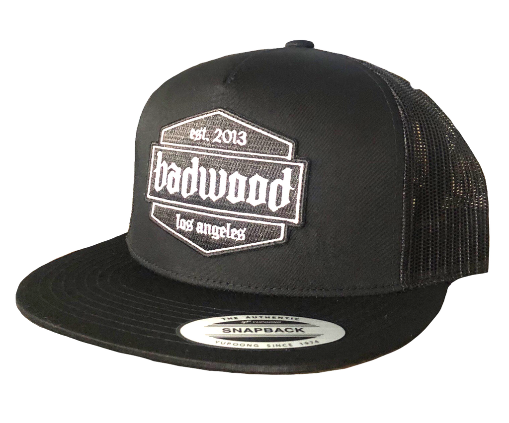 Shield Trucker Hat in Black