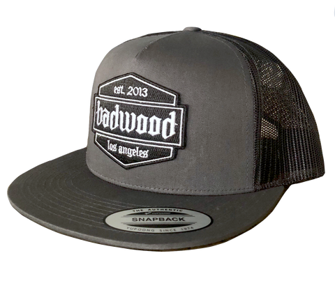 Shield Trucker Hat in Gray