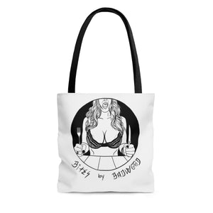 """BITES BY BADWOOD"" Tote Bag"