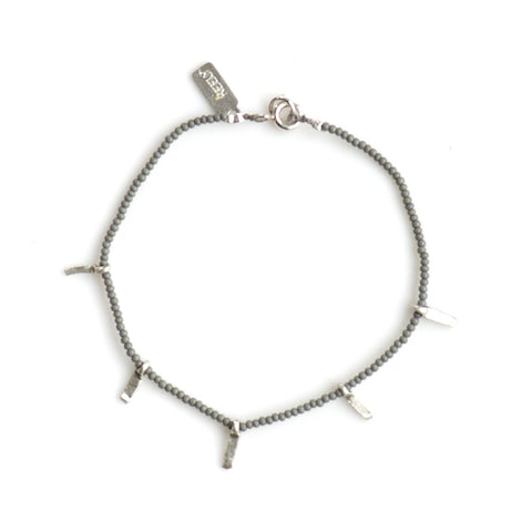 MICRO BEADED STACKING BRACELET WITH STICK CHARMS - SKU008BLSX - keelysmithdesigns