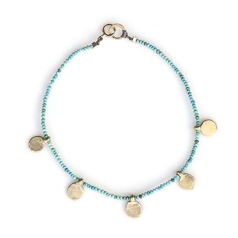 MULTI SPARK BRACELET | GOLD PLATE AND TURQUOISE - 071BLGT - keelysmithdesigns