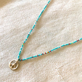 Peace Charm Summer Necklace in Gold - sku1086nl14k