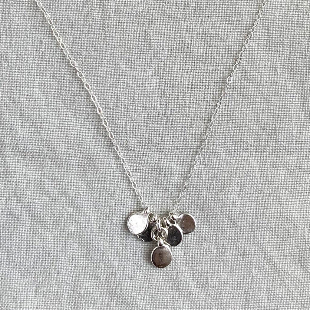 DOT CHARM NECKLACE IN SILVER - SKU210NLS - keelysmithdesigns
