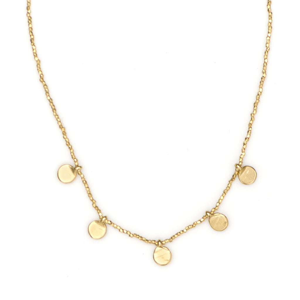 GOLD MULTI DISC PENDANT NECKLACE - SKU 263NLG - keelysmithdesigns