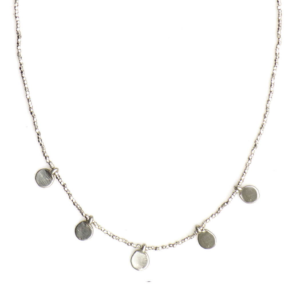 XMULTI SPARK STERLING BEADED NECKLACE - 263NLSS - keelysmithdesigns