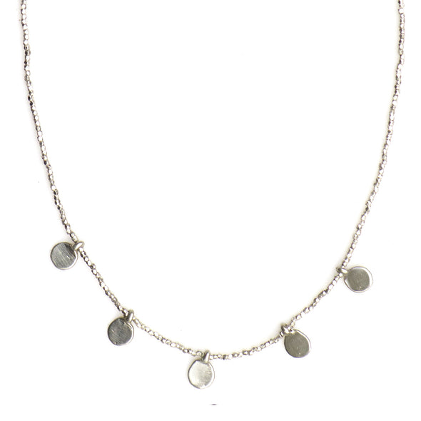 MULTI DOT CHARM STERLING BEADED NECKLACE - SKU263NLS - keelysmithdesigns