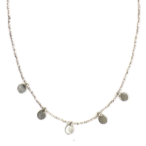 291NLS - MULTI STERLING SPARK AND FINE SILVER NECKLACE