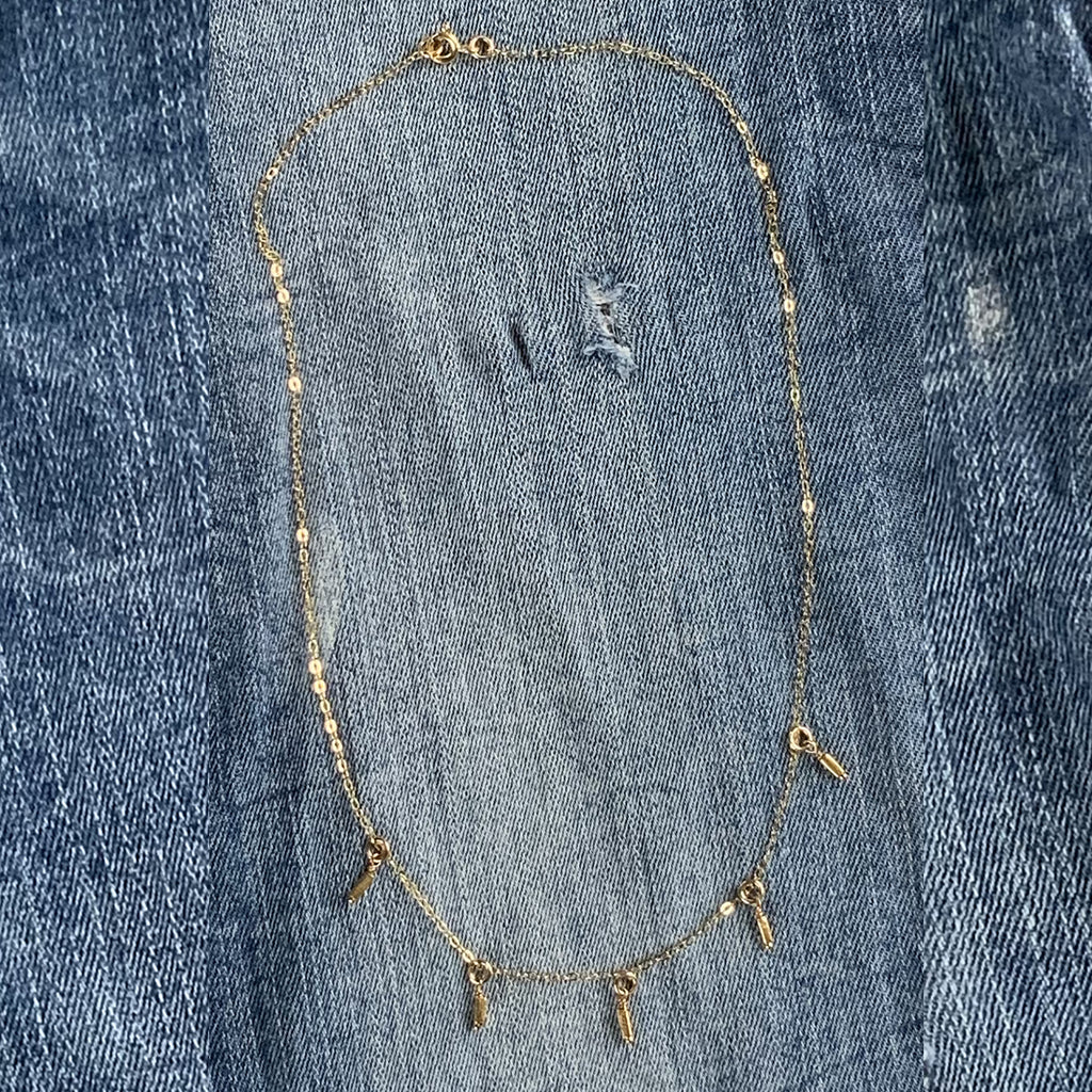 MICRO GOLD BEAD DROP NECKLACE - SKU218NLG - keelysmithdesigns