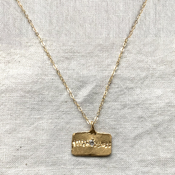BLOCK ROW TAG NECKLACE IN GOLD - SKU288NLG - keelysmithdesigns
