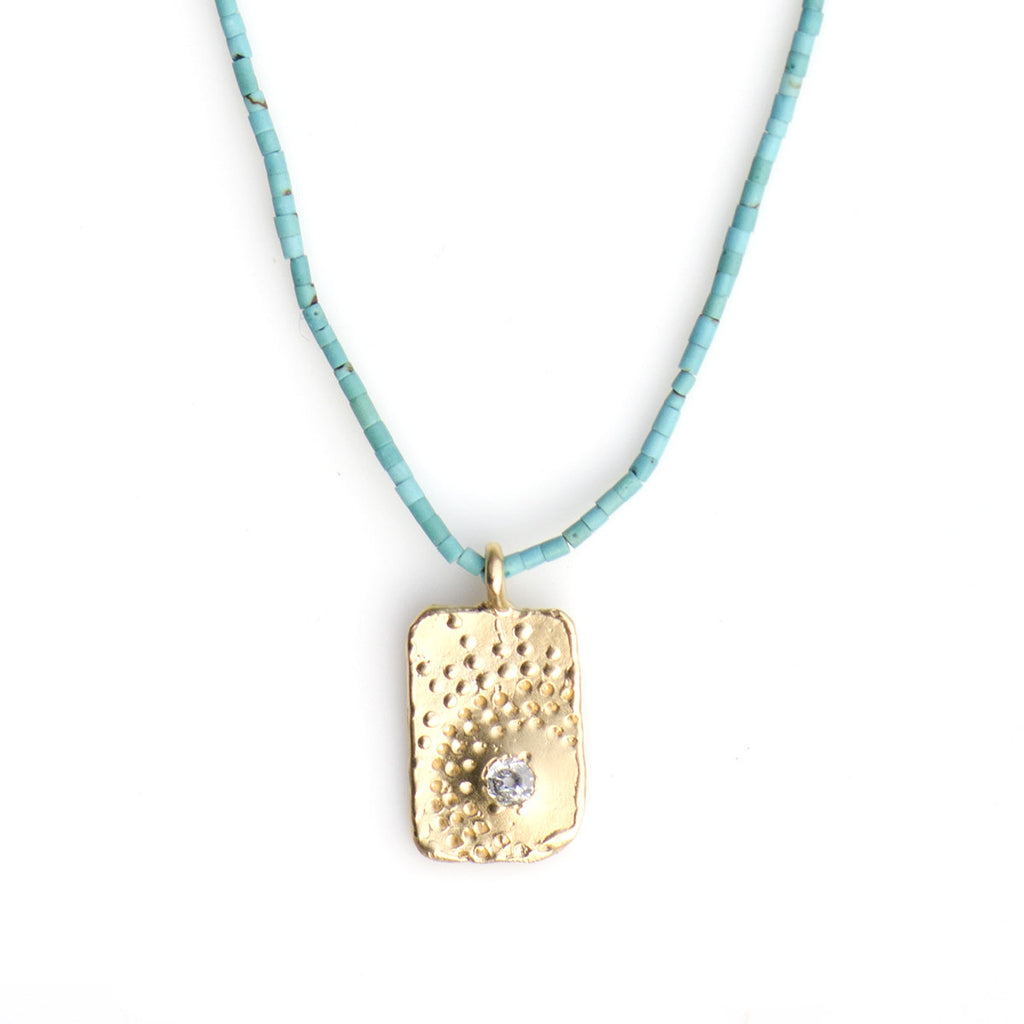 FIREWORK NECKLACE ON TURQUOISE | KEELY SMITH JEWELRY DESIGNS