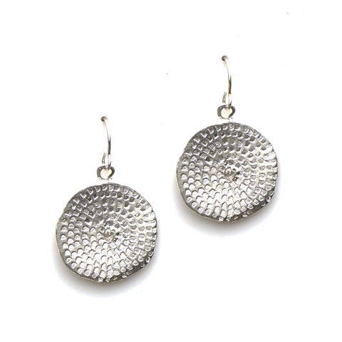 WOODBLOCK PRINT EARRINGS IN SILVER | KEELY SMITH JEWELRY DESIGNS