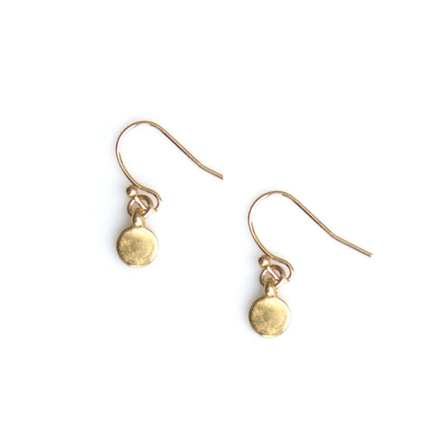 TINY DANGLE DOT EARRINGS IN GOLD PLATE - keelysmithdesigns