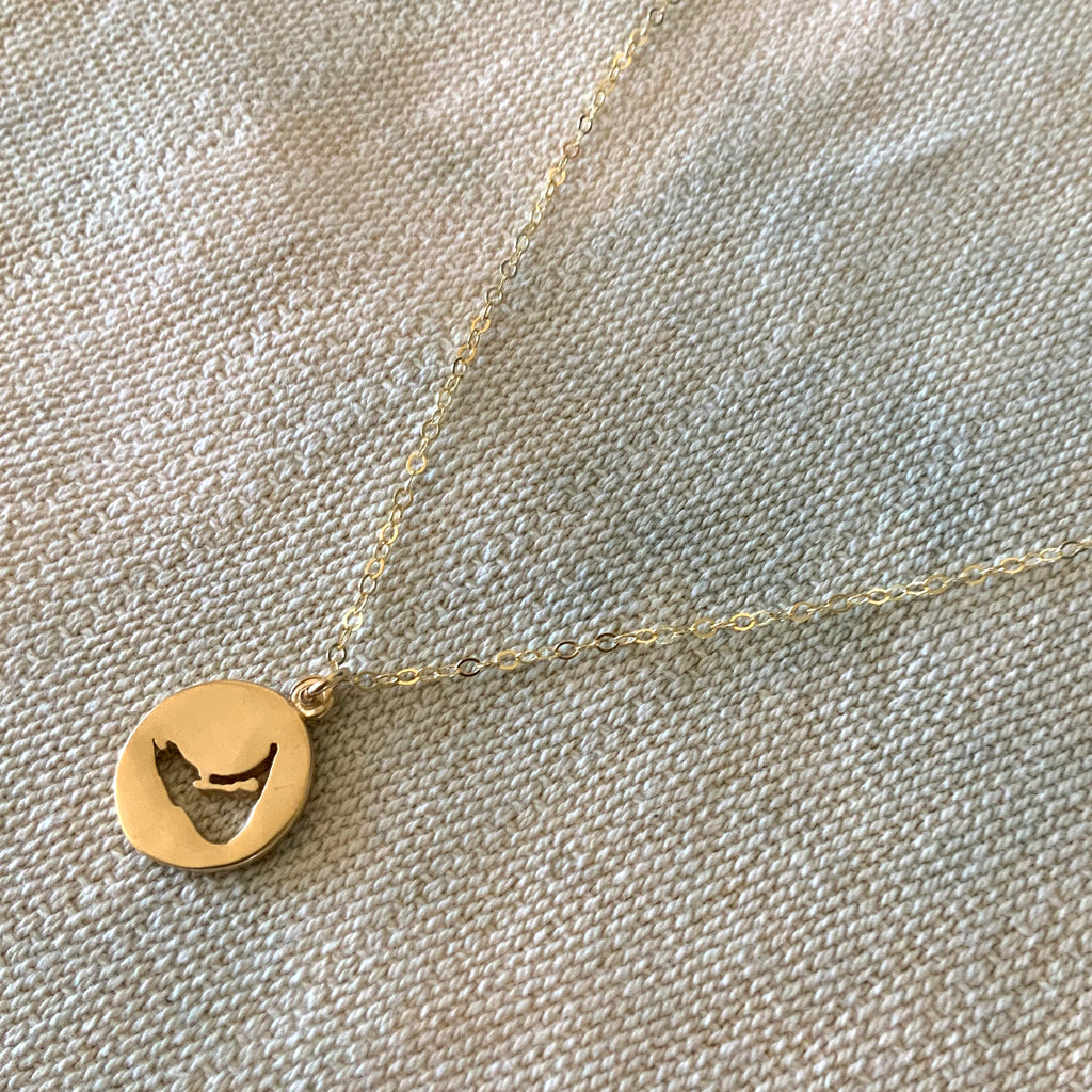 Thick Nantucket Necklace in Gold  Handmade By Keely Smith Jewelry Designs